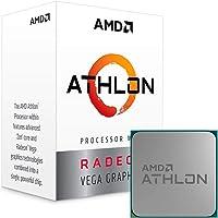 AMD YD200GC6FBBOX Athlon 200GE 2-Core 4-Thread AM4 Socket Desktop Processor with Radeon Vega Graphics