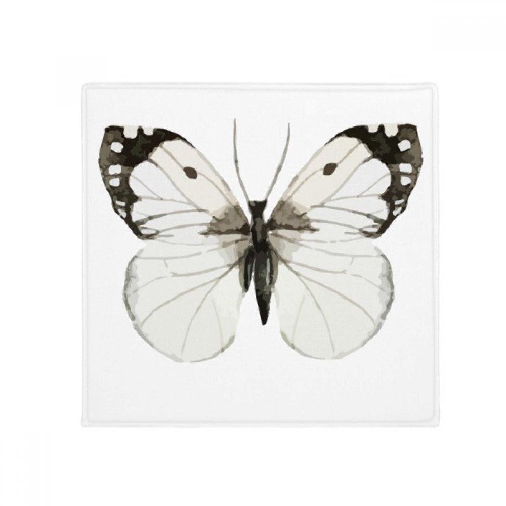DIYthinker Butterfly with White Dark Wings Anti-Slip Floor Pet Mat Square Home Kitchen Door 80Cm Gift