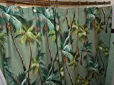 Tropical Hawaiian 100% Cotton Barkcloth SHOWER CURTAIN