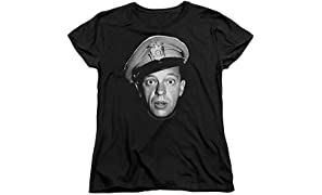 Womens: Andy Griffith - Barney Head Ladies T-Shirt Size L