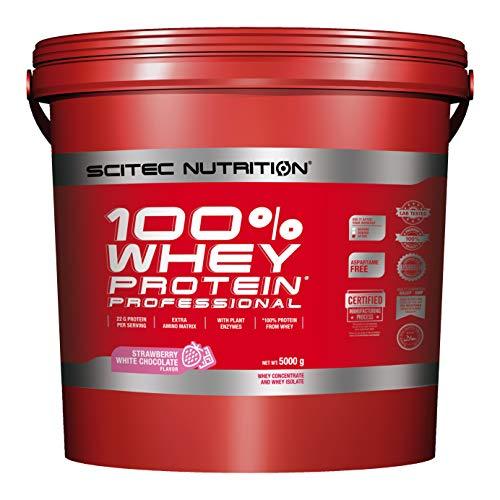 Scitec Nutrition Protein 100% Whey Protein Professional, Erdbeer-Weiße Schkolade, 5000g