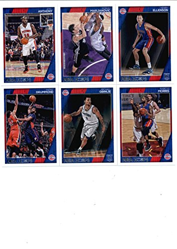 2016-17 Panini NBA Hoops Detroit Pistons Team Set of 11 Cards: Ish Smith(#5), Reggie Jackson(#106), Stanley Johnson(#107), Tobias Harris(#108), Kentavious Caldwell-Pope(#109), Andre Drummond(#151), Marcus Morris(#224), Joel Anthony(#226), Boban Marjanovic(#233), Henry Ellenson(#275), Michael Gbinije(#298)
