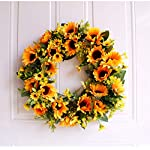 Christmas wreaths for front door Simulation Flower Wreath Christmas Ornaments Simulation Pearl Flower Link Day Home Decoration Threshold Hanging Ornaments Holiday Wedding Decoration Living Room Wall P
