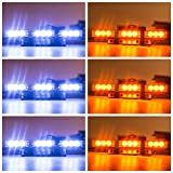 strobes lights for cars - Orion Motor Tech 54 LED Amber & White Emergency Service Truck Car Vehicle Strobe Warning Light/Lightbars for Deck Dash Grill Windshield Headliner