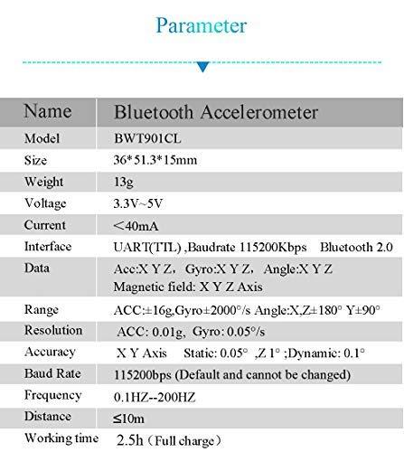 Bluetooth 2 0 BWT901CL AHRS IMU Wireless 9 Axis TTL 200Hz