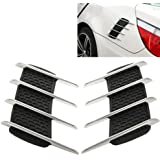 LOPURS Hood Side Shark Gill Simulation Air Flow Vent Fender Sticker for Car Decoration, Pack of 2, Size: 22cm x 20cm x 2cm