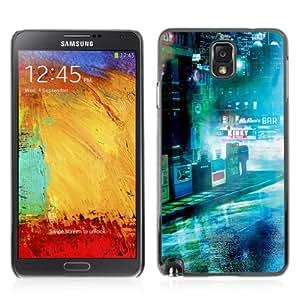 iKiki-Tech Hard Case Cover for Samsung Galaxy Note 3 - Dark Sci Fi City Photo
