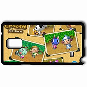 Personalized Samsung Note 4 Cell phone Case/Cover Skin Animal Crossing Black by supermalls