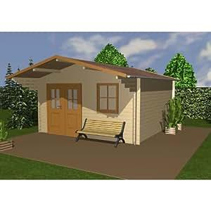 Zuluna 14ft x 14ft (4.1m x 4.1m) Coleford Log Cabin with Window