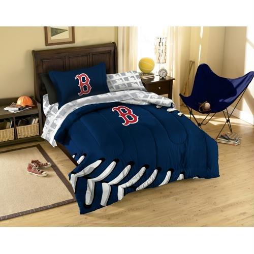 MLB Boston Red Sox Bedding Set, Twin (Sox Twin Sheet Set)
