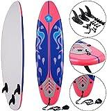K&A Company Beach Foamie Body Surfboard Surfing Ocean Surf Boarding Board New 6' Red 200 lbs Capacity