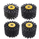 B Blesiya 4 Pieces Abrasive Wire Drawing Wheel Burnishing Polishing Brush for Wooden Floor Cleaning/Derusting/Deburring