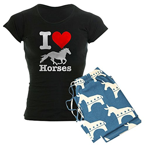 - CafePress - I Heart Horses - Womens Novelty Cotton Pajama Set, Comfortable PJ Sleepwear