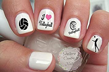 Amazon 50 Sports Volleyball Nail Art Designs Decals Beauty
