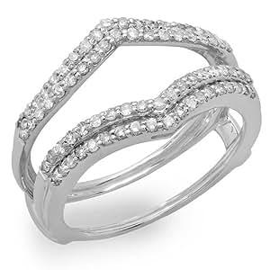 Amazon.com: 0.50 Carat (ctw) 10K Gold Round Diamond Ladies