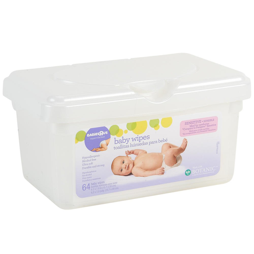 Amazon.com : Babies R Us - Sensitive Unscented Baby Wipes 64 Count : Baby