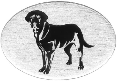 Knockout 605 Black Lab Plastic Hitch Cover