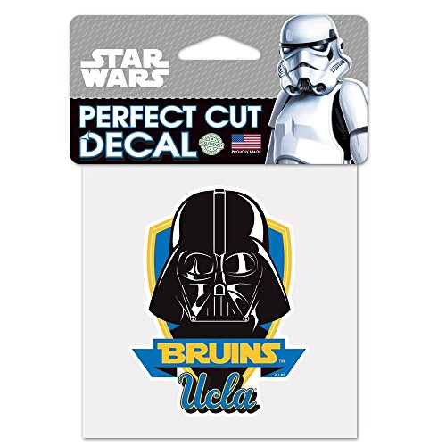 WinCraft UCLA Bruins Official NCAA 4 inch x 4 inch Star Wars Darth Vader Die Cut Car Decal 154347