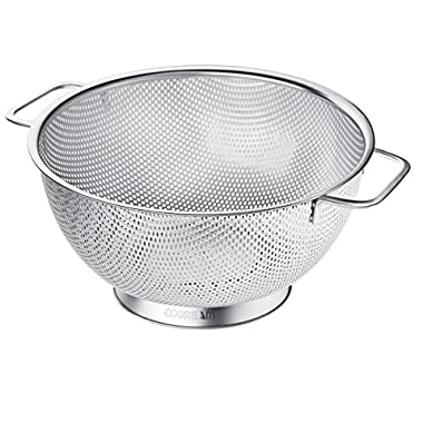 Codream Micro Perforated Stainless Steel Colander 5 Quart with Handles