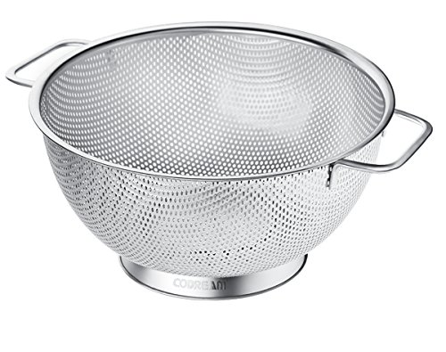 Codream Micro Perforated Stainless Steel Colander 5 Quart with - Colander Dishwasher Safe