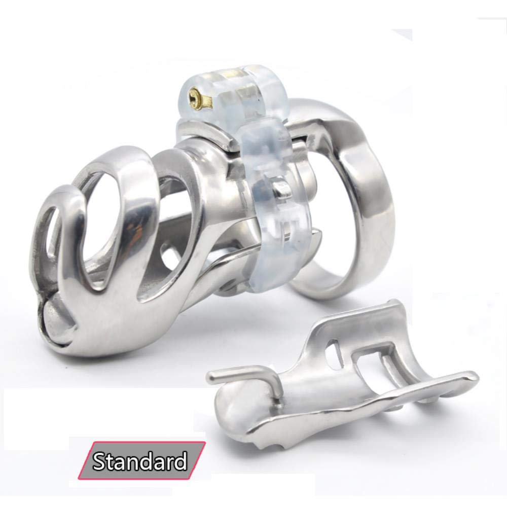 Clareta New The 316L Stainless Steel Male Standard Chastity Devices Penis Ring Belt Adult Sex Toys A359-2,43mm