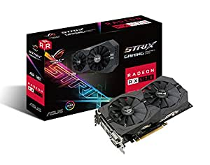 ASUS ROG-STRIX-RX570-O4G-GAMING OC Edition GDDR5 DP HDMI DVI VR Ready AMD Graphics Card Boost Clock 1254 MHz