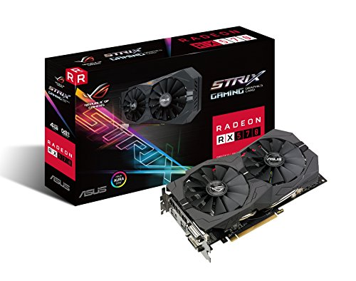 ASUS ROG Strix Radeon RX 570 4G Gaming GDDR5 DP HDMI DVI VR Ready AMD Graphics Card (ROG-STRIX-RX570-4G-GAMING)