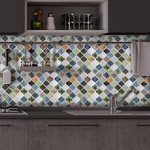 20pcs Waterproof Tiles Mosaic Wall Sticker Kitchen Bathroom Adhesive Decor