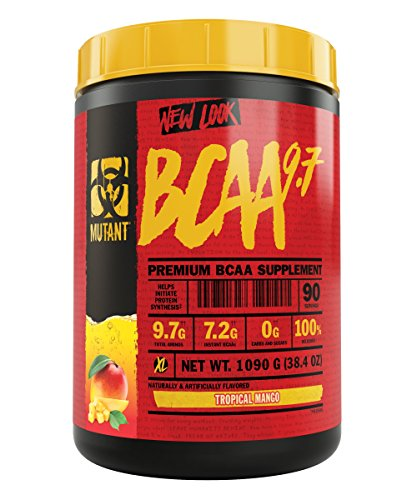 Mutant BCAA 9.7 Supplement BCAA Powder with Micronized Amino Energy Support Stack, 1044g – Tropical Mango