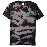 HUF Men's Classic H Crystal Wash Tee, Black, L
