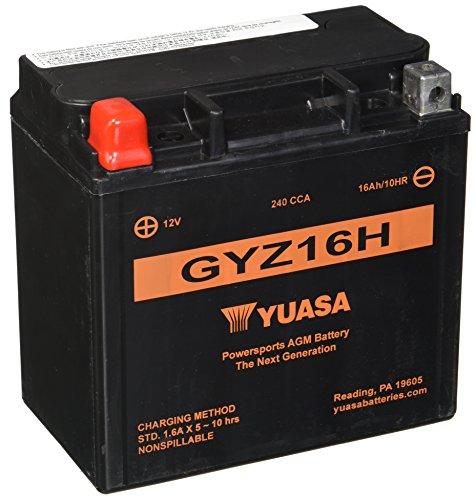 Yuasa GYZ16H Performance Battery Die Hard Powersport Battery