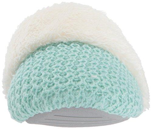Dearfoams Womens Sweater Knit Gesloten Teen Scuff Slipper Wintermint