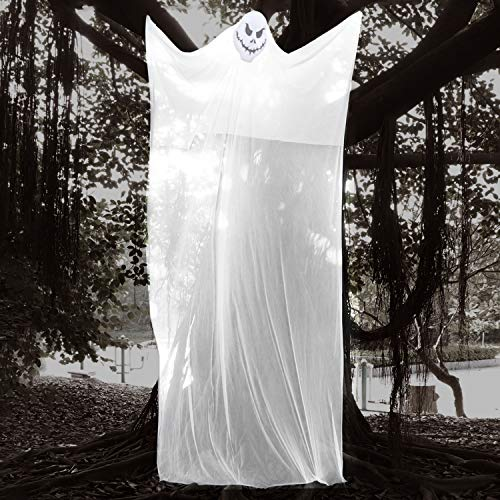 AYOGU 10Ft Hanging Ghost Props for Halloween Decorations,Outdoor Large Spooky Hanging Prop for Halloween Decor
