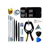VIPFIX 38 In 1 Professional Phone Screen Opening Pry Tool with Screwdriver Set,Precision Phone Repair Tools kit with Anti-Static Tweezers and Nylon Spudgers For iPhone 5S/6/6S/7/8 Mobile Phone