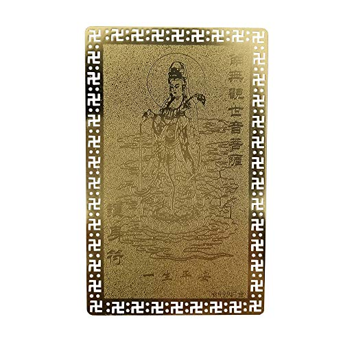 FengShuiGe Feng Shui Buddha Good Luck/Amulet Card for Protection - guanyin Buddha Gold Card