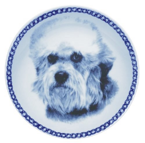 Dandie Dinmont Terrier Lekven Design Dog Plate 19.5 cm  7.61 inches Made in Denmark NEW with certificate of origin PLATE  7571