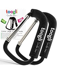 X-Large Stroller Hook Set for Mommy By Toogli. Two Great Organizer Accessories for Hanging Diaper & Shopping Bags & Purses. Clip Fits All Single/Twin Travel Systems, Baby Joggers and Wheelchairs. BOBEBE Online Baby Store From New York to Miami and Los Angeles