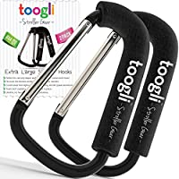 X-Large Stroller Hook Set for Mommy By Toogli. Two Great Organizer Baby Acces...