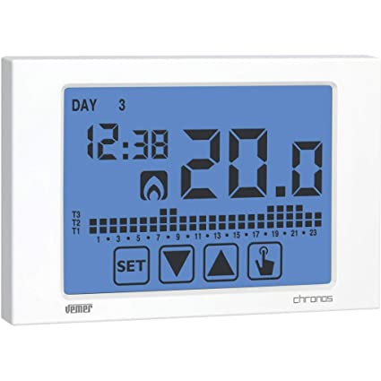 Vemer VE451100 cronotermostato Chronos Touch Screen de Pared, Blanco