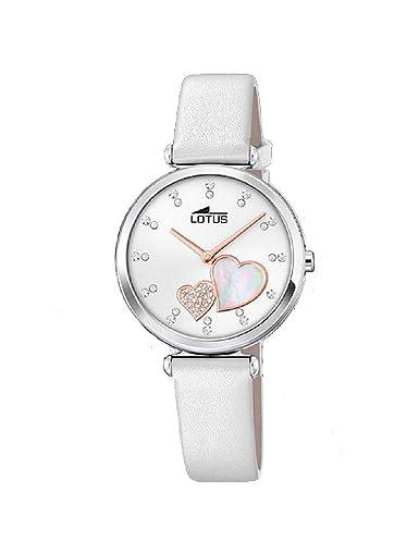 Lotus Reloj Analógico para Mujer de Cuarzo con Correa en Cuero 18617/1: Amazon.es: Relojes