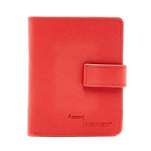 Bi Fold Exclusive Wallet - Genuine Leather Wallet Womens Slim Minimalist Bifold 8 Card Slots RFID Blocking