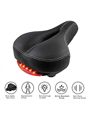 5e62a815cc8 Comfortable Bike Seat Cushion with Taillight for Men Women SOKLIT Wide  Bicycle Saddle with Bike Seat