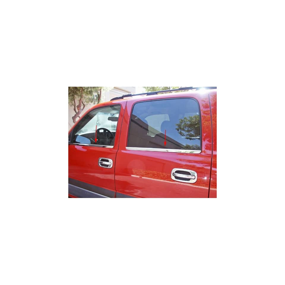 CHEVROLET Tahoe/Suburban/Silverado Crew Cab/Avalanche 00 06 Insert Accents Beltline   Stainless Steel Polished