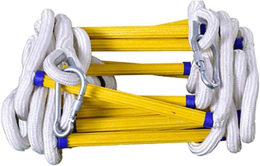 Size : 15m COOYT /Échelle de Corde d/évacuation de Secours /échelles ignifuges r/ésistantes au feu de Maisons avec des Crochets d/éploiement Rapide et /échelle Simple /à Utiliser