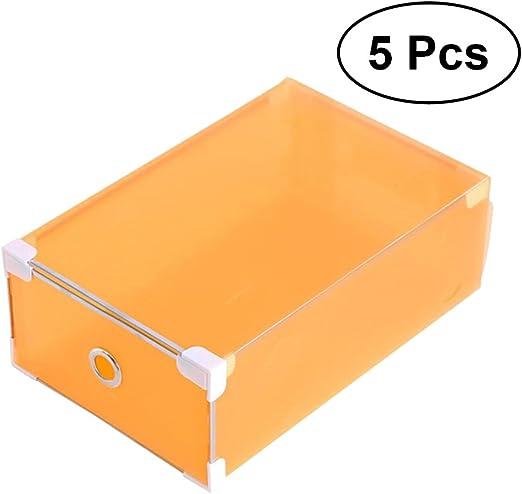 OUNONA 5 Pieza Zapatos Caja Caja Cajón Transparente plástico Caja ...