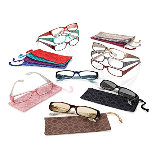 (JOY 20-Piece Shades Readers Couture Croco Embossed Style Collection)