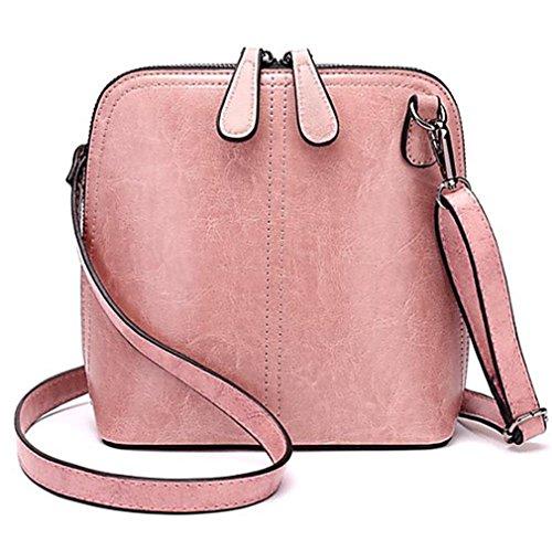 kaoling Mujer Bolsos Piel De Vaca Bandolera Cremallera Para Casual Todas Las Temporadas Negro Rosa Marrón Blushing Pink Blushing Pink