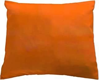 product image for SheetWorld Crib Toddler Pillow Case, 100% Cotton Flannel, Orange, 13 x 17, Made in USA