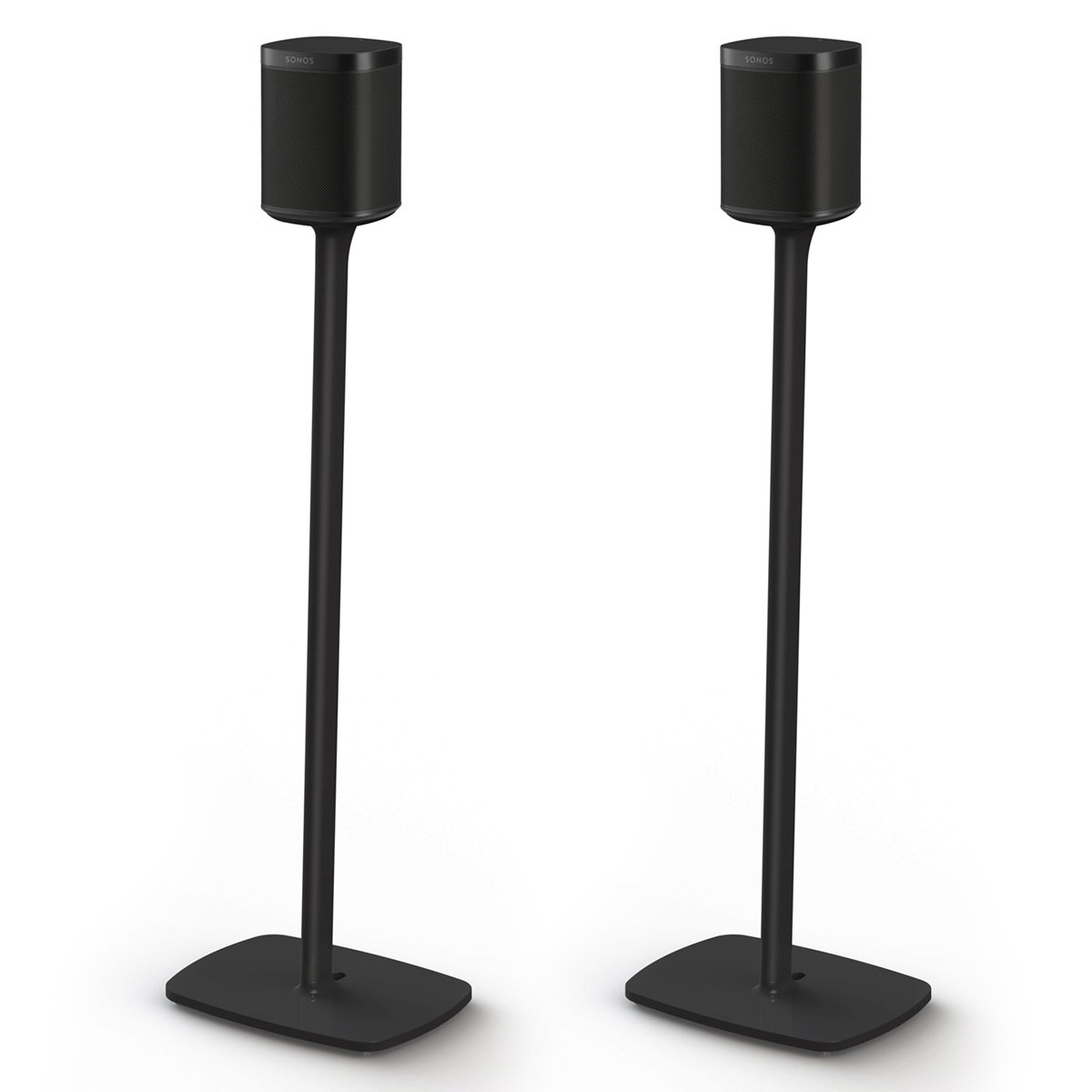 Flexson Floor Stands for Sonos One - Pair (Black) by Flexson