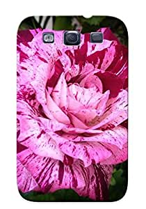 High-quality Durable Protection Case For Galaxy S3(white Rose With Red Splash ) For New Year's Day's Gift by icecream design
